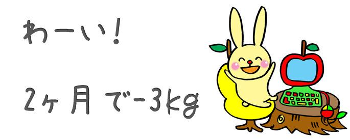 2ヶ月で3kg減量