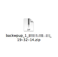バックアップはzip形式