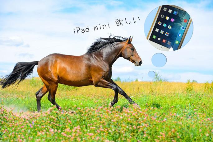 iPad mini retinaを追いかける馬