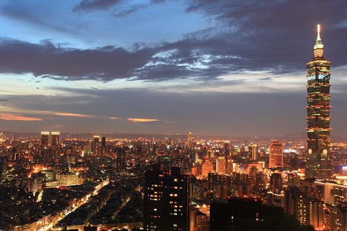 台北101、夜景