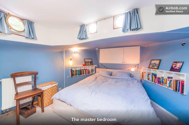 ボートハウスのベッドルーム