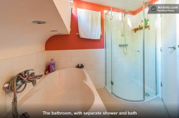 ボートハウスのバスルーム