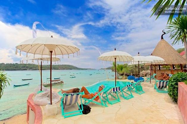 バリ島のドミトリーのビーチサイド