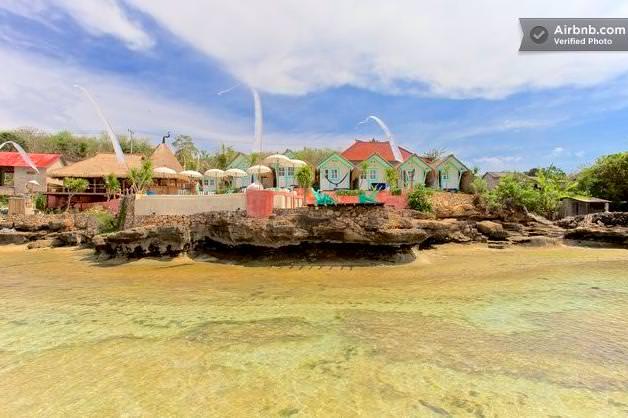 バリ島のドミトリーの海からの長め
