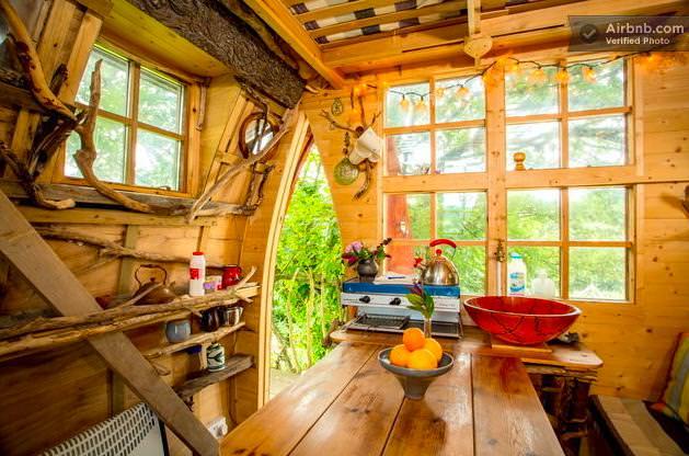 ツリーハウスのキッチン