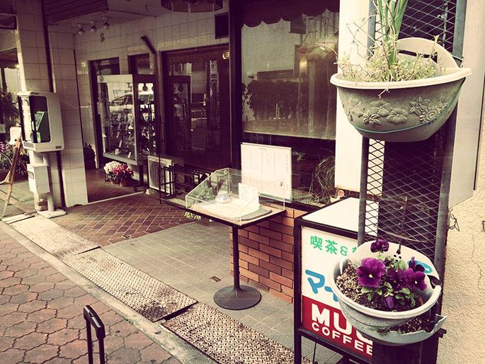 駅近くの喫茶店