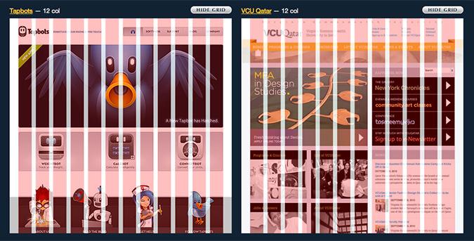 グリッドデザインの例