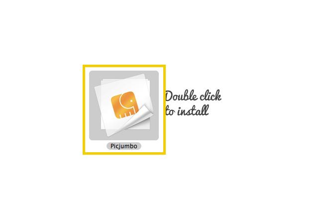 ダウンロードしたファイルをダブルクリックでインストール