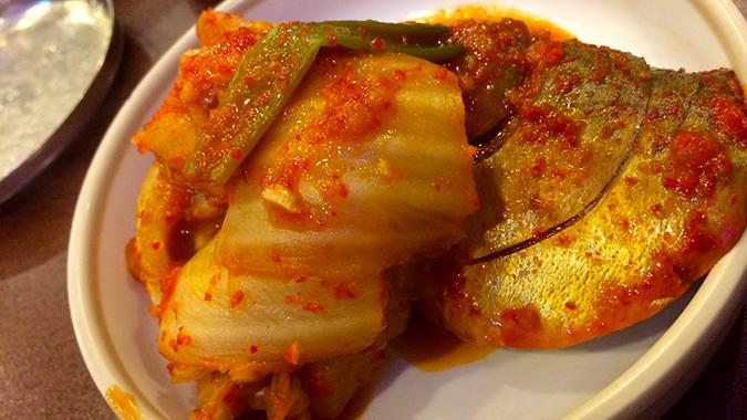 サバと白菜のキムチ