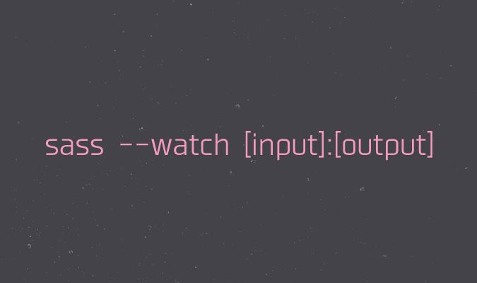 Sass watch input output