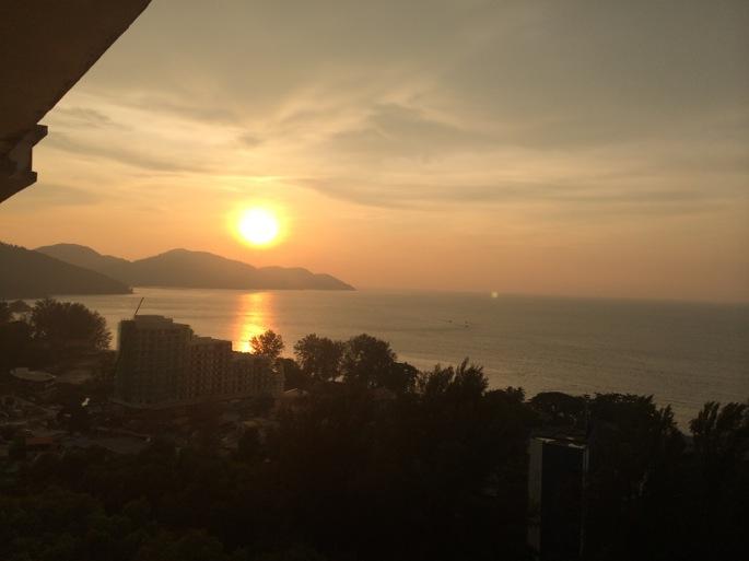 ペナンの夕陽