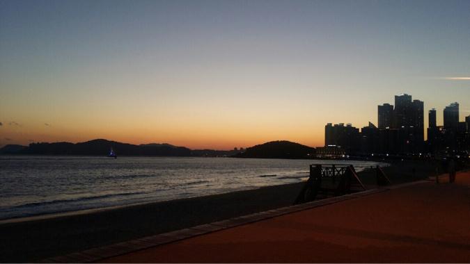 海雲台の夕焼け