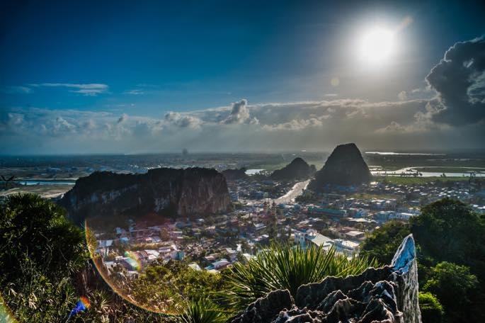 山から見たダナンの景色