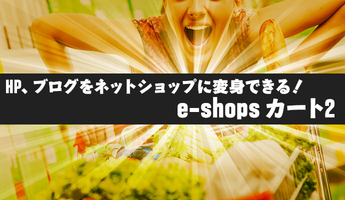 HP、ブログをネットショップへ変身できる! e-shops カート2