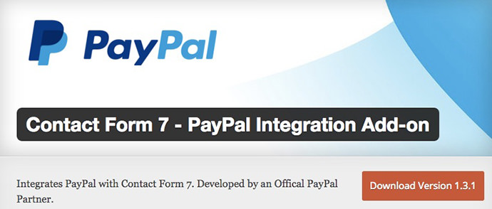 Contact Form PayPal Integration Add on