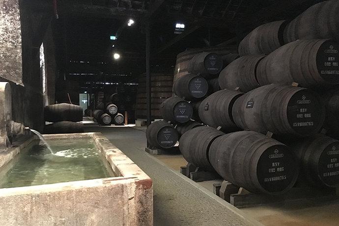 ワインの貯蔵庫