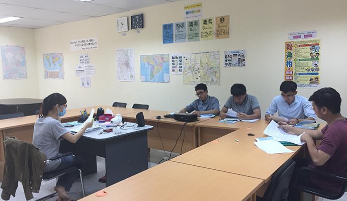日本語の学習中