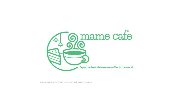 カフェのロゴ 完成品