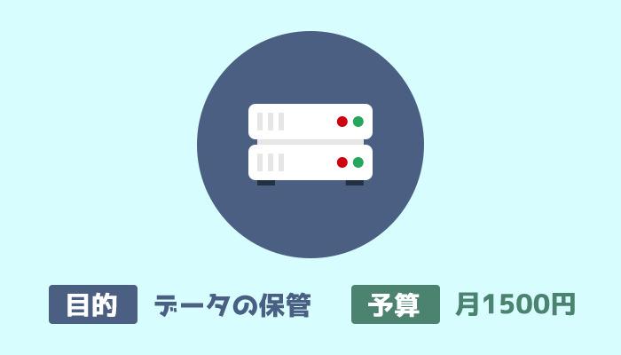 レンタルサーバー代 月1500円