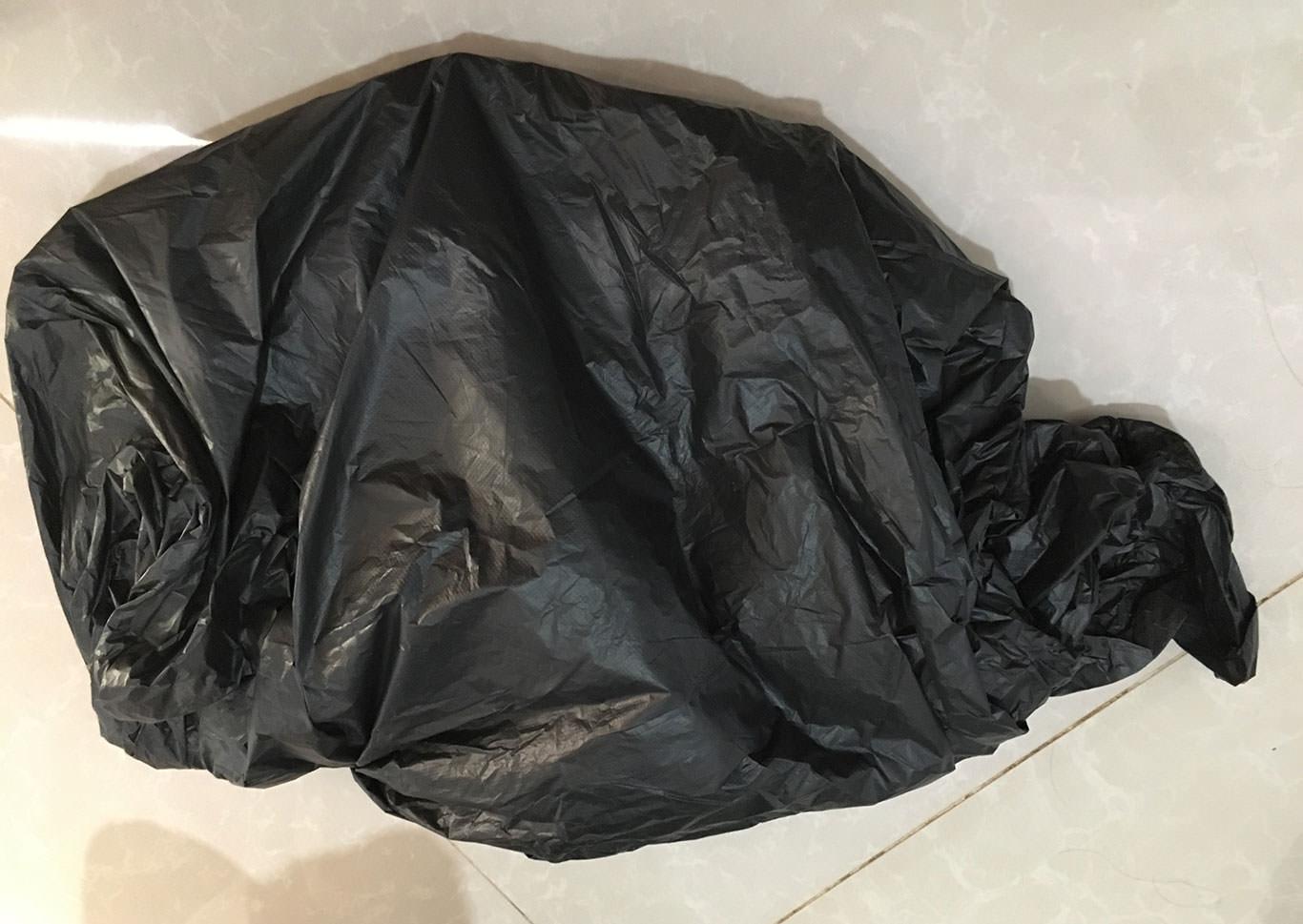 ゴミ袋で防水