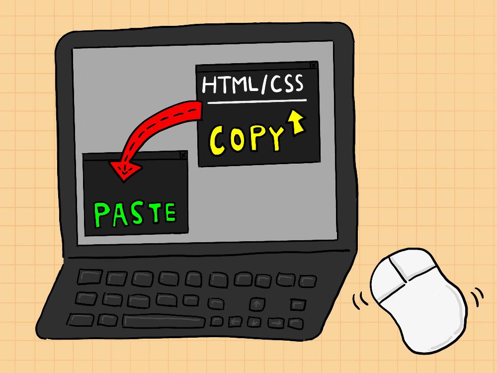 HTMLでコピペ